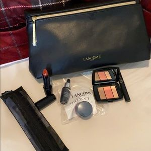 Lancome Gift Pouch with Travel Set & Brushes
